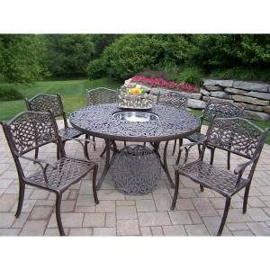 Mississippi 7 Piece Patio Dining Set With Ice Bucket · Oakland Living ...