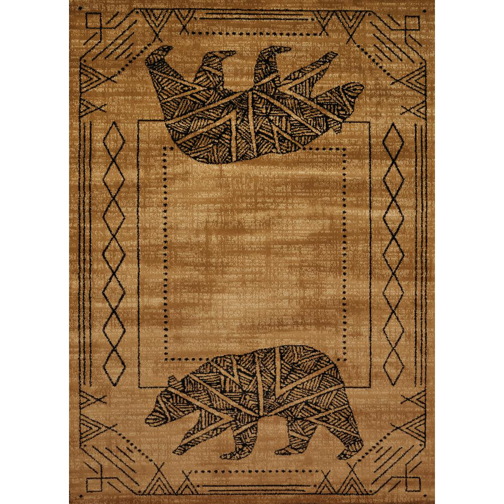 Affinity Bear Cave Gold 1 Ft 11 In X 7 4 Area Rug