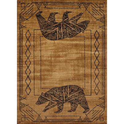 Affinity Bear Cave Gold 7 ft. 10 in. x 10 ft. 6 in. Area Rug