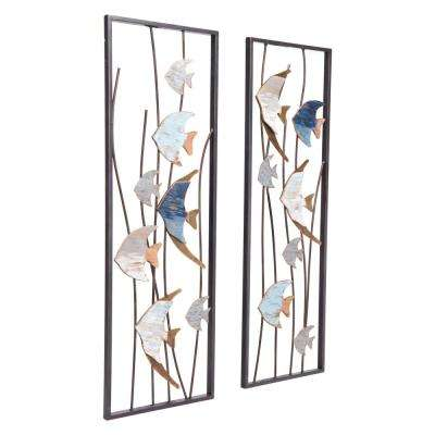 Metal Ocean Wall Decor (Set of 2)