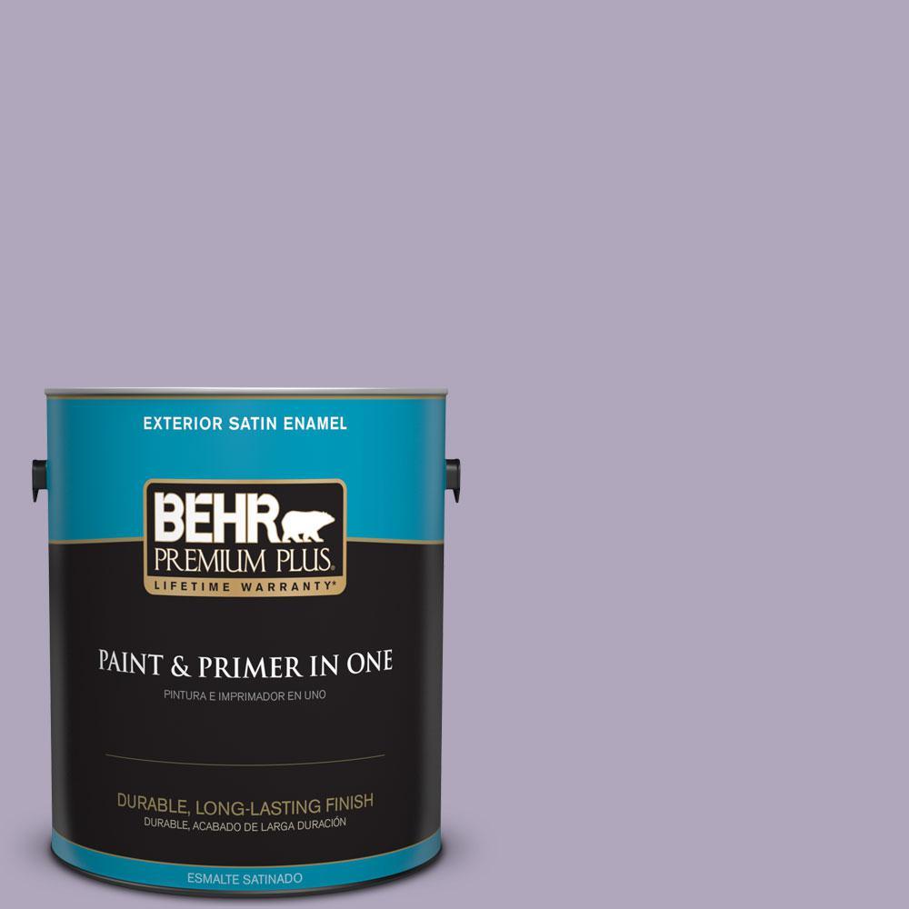 BEHR Premium Plus 1-gal. #650E-3 Plum Blossom Satin Enamel Exterior Paint