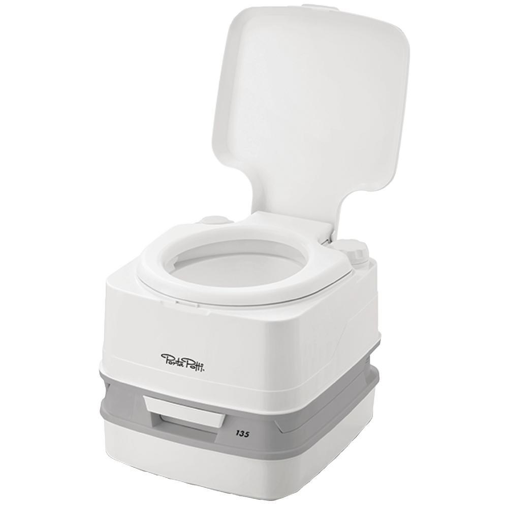 Porta Potti 135, 2.6 Gal. Portable RV Toilet - White