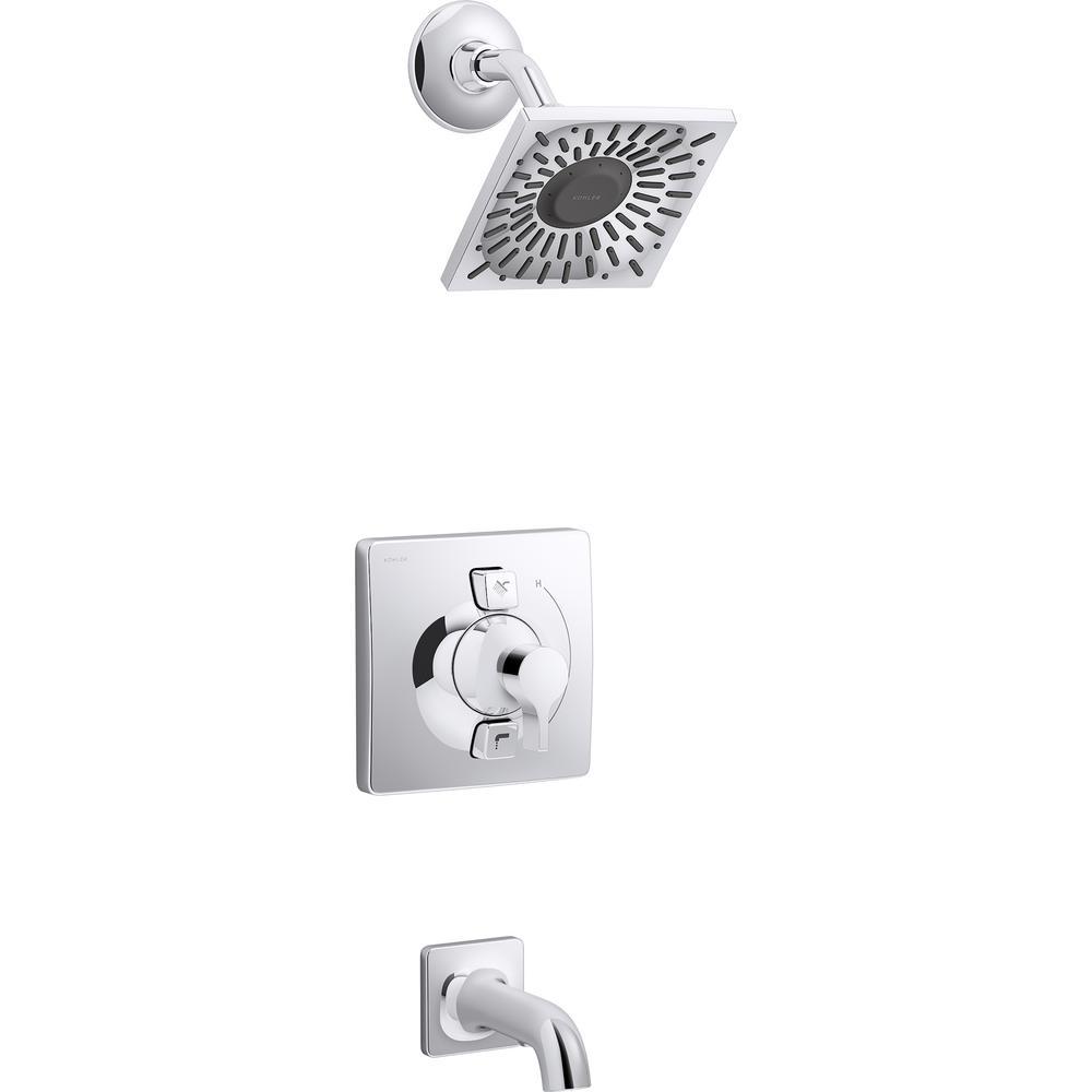 Chrome Kohler Bathtub Amp Shower Faucet Combos Bathtub