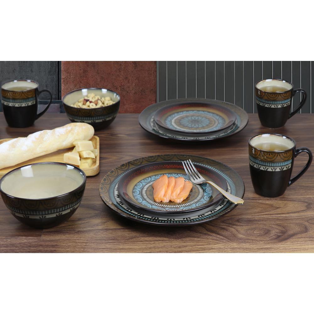 16-Piece Glazed Dinnerware Mosaic (Service for 4)