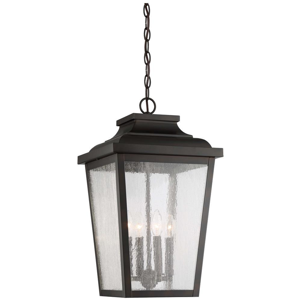 Irvington Manor Chelesa Bronze Outdoor 4-Light Hanging Lantern