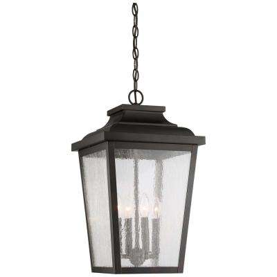 Irvington Manor Chelesa Bronze Outdoor 4-Light Hanging Lantern