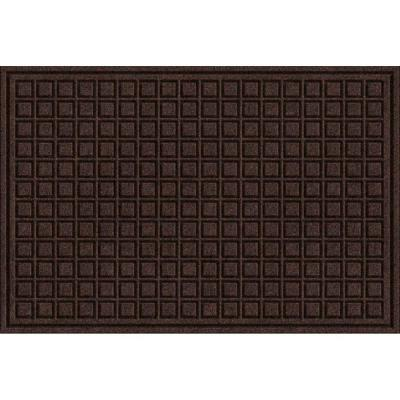 Brown 24 in. x 36 in. Synthetic Surface and Recycled Rubber Commercial Door Mat