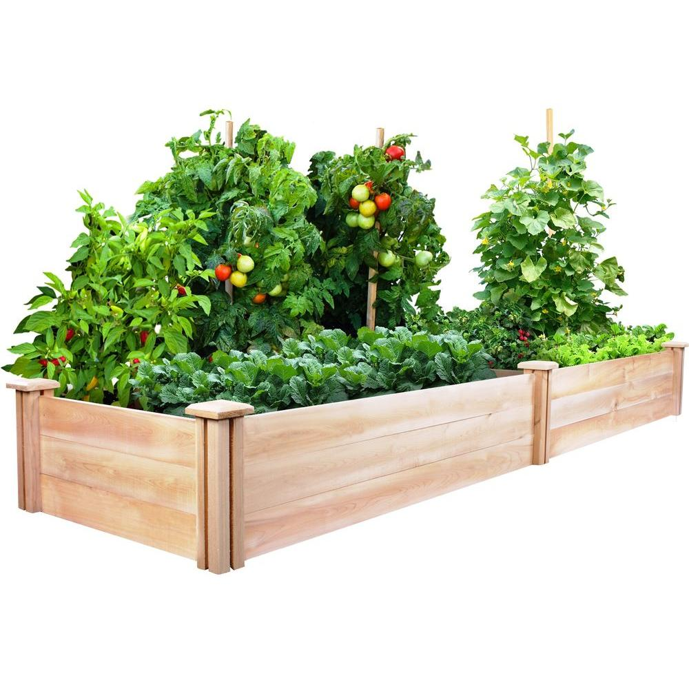 Greenes Fence 2 ft. x 8 ft. x 10.5 in. Cedar Raised Garden Bed ...