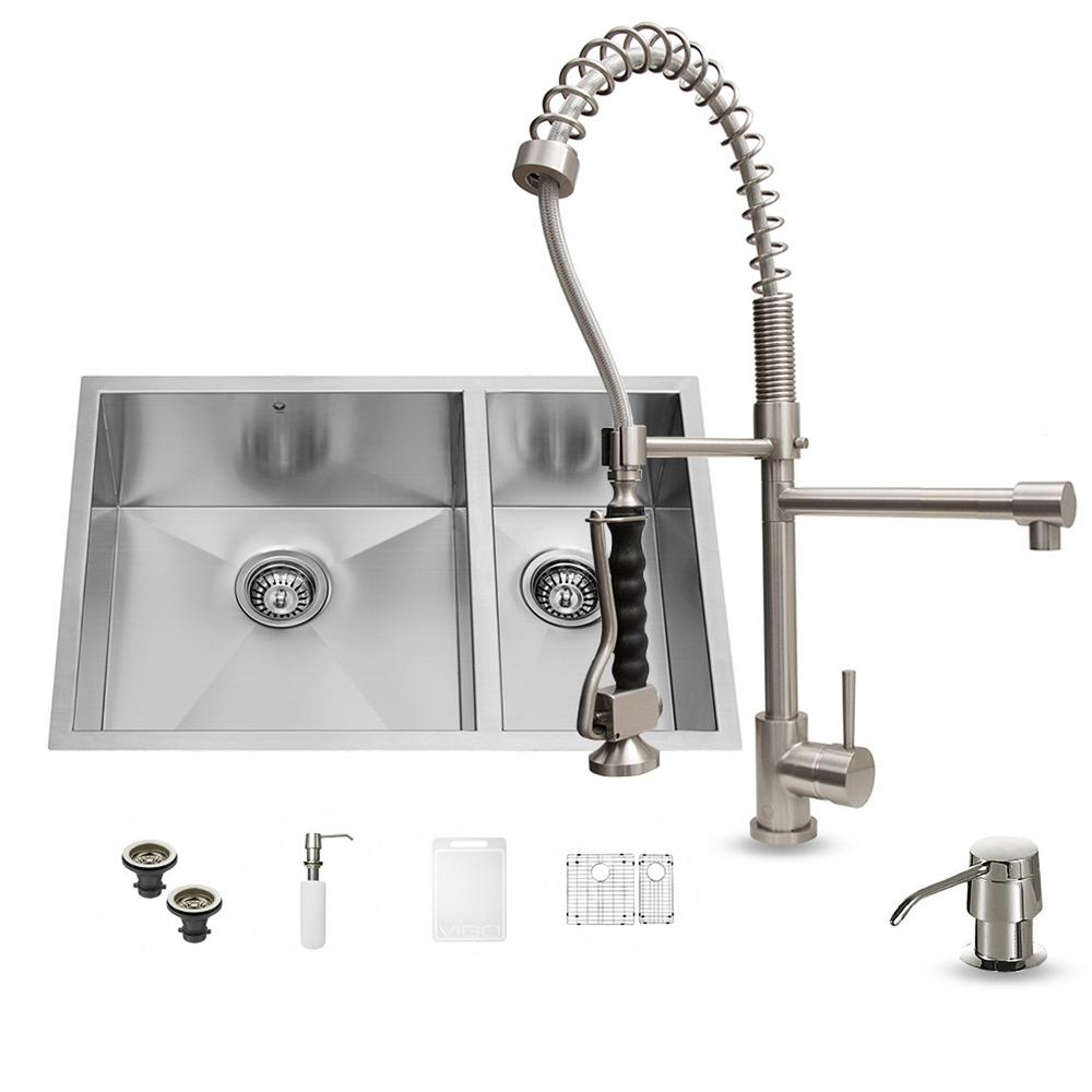 top kitchen faucets vigo all in one undermount stainless steel 29 in 0 15181