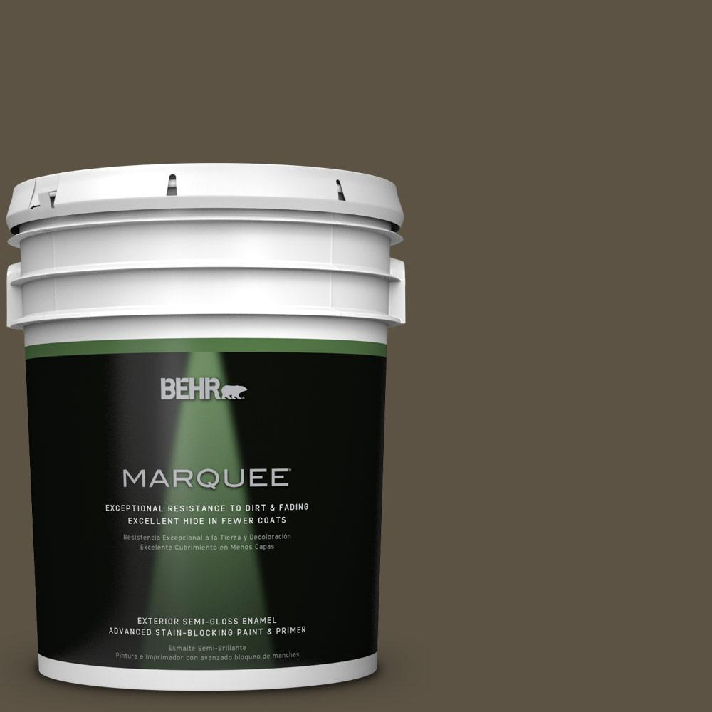 BEHR MARQUEE 5-gal. #QE-32 Treemoss Semi-Gloss Enamel Exterior Paint