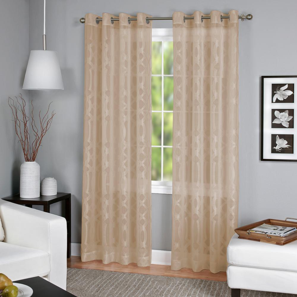 Latique Light Filtering Sheer Window Curtain