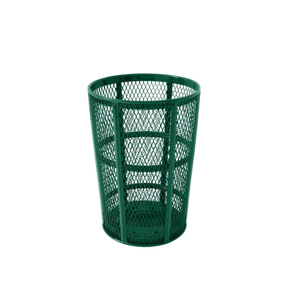 Portable 45 Gal. Green Diamond Commercial Trash Can