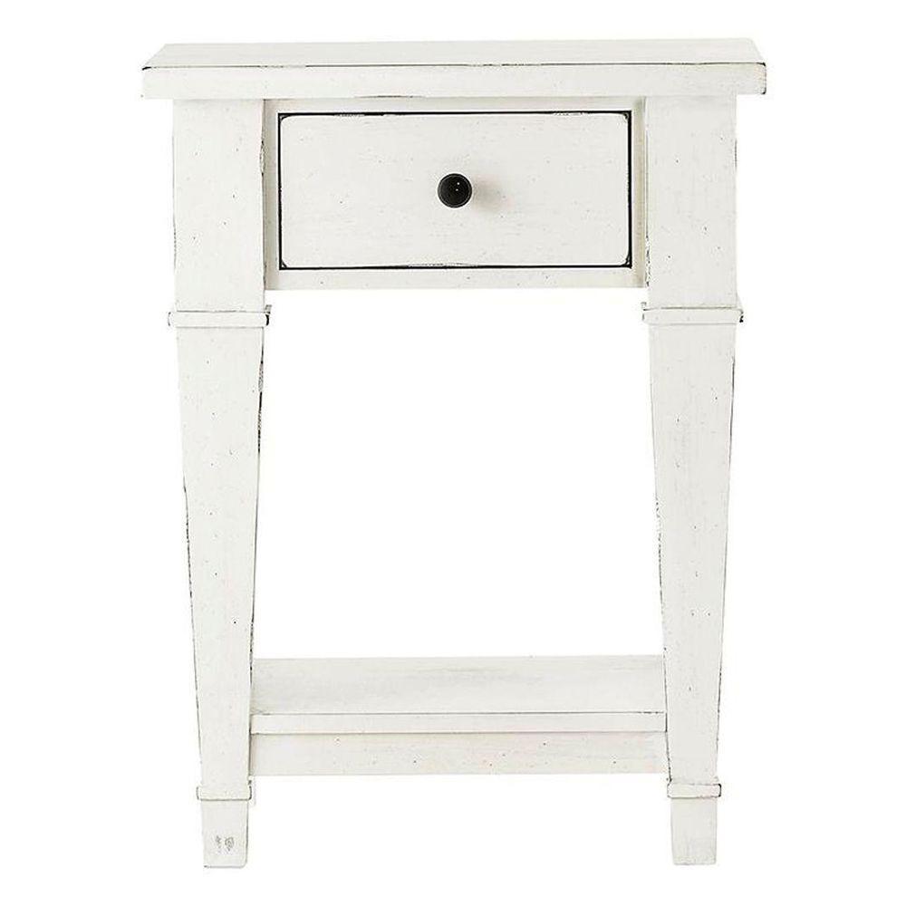 Bridgeport 1-Drawer Antique White Nightstand