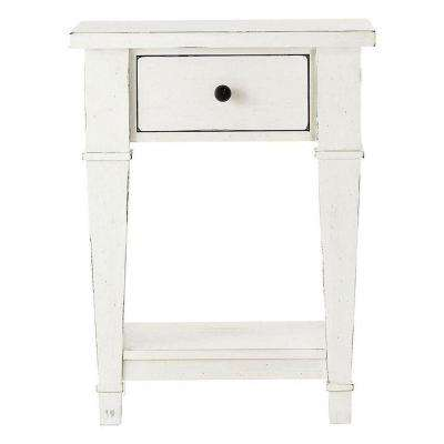 Bridgeport 1-Drawer Antique White Nightstand