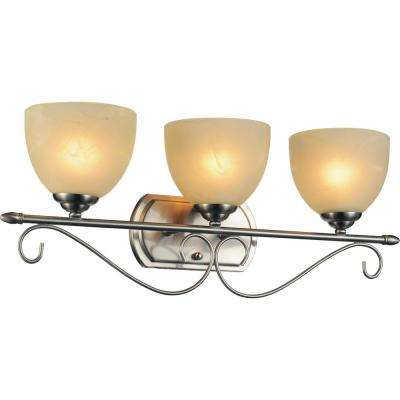Selena 3-Light Satin Nickel Sconce