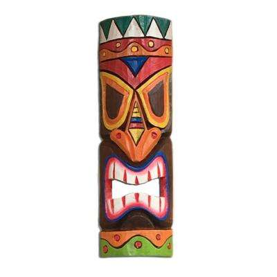 20 in. Tiki Mask Colorful Hawaiian Polynesian Tropical Decor