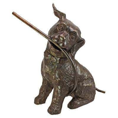 14.5 in. H Raining Dogs Cast Bronze Garden Statue