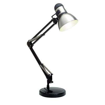 Karl 34 in. Black and Steel Desk Lamp