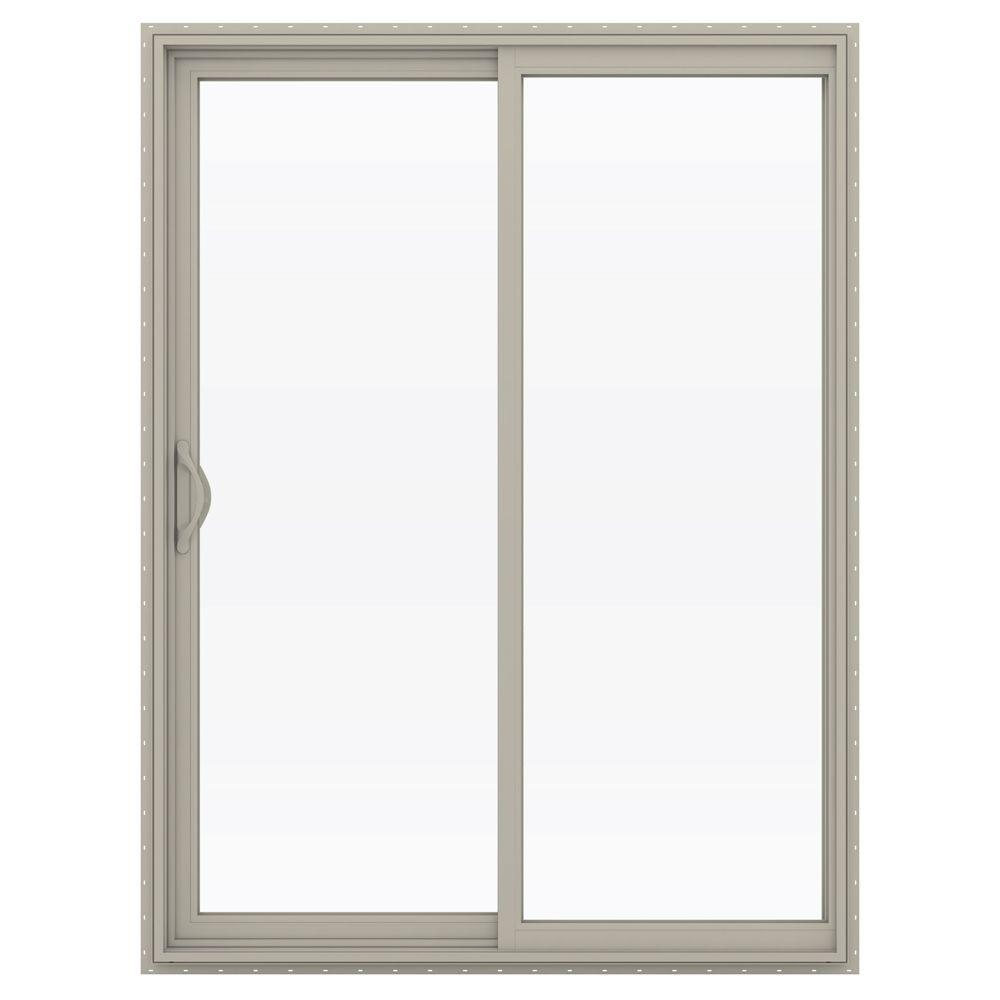 Jeld-Wen 60 in. x 80 in. V-2500 Series Vinyl Sliding Low-...