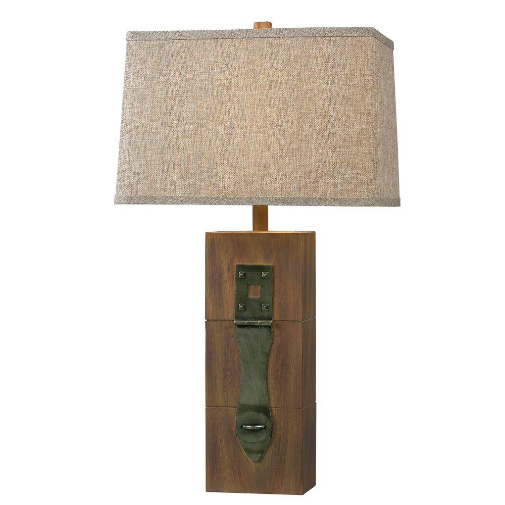 Kenroy Home Locke 30 In. Dark Wood Grain Table Lamp 32091WDG   The Home  Depot