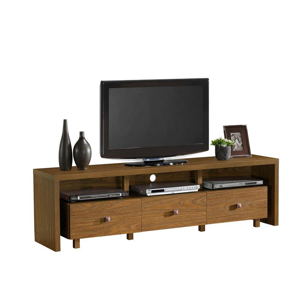 Techni Mobili Walnut (Brown) Elegant TV Stand for TV's Up...