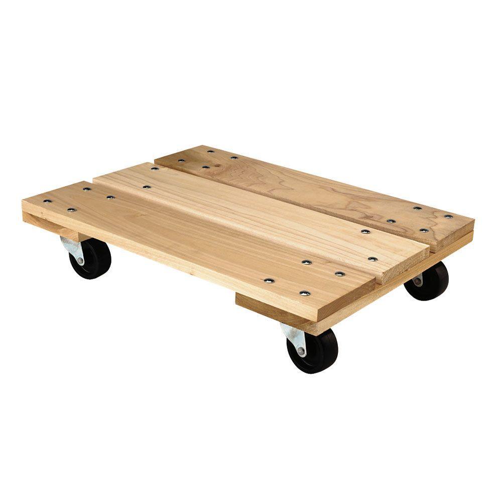 800 lbs. 18 in. x 5.5 in. x 24 in. Heavy-Duty Hardwood Dolly