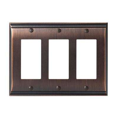 Candler 3-Rocker Wall Plate, Oil-Rubbed Bronze
