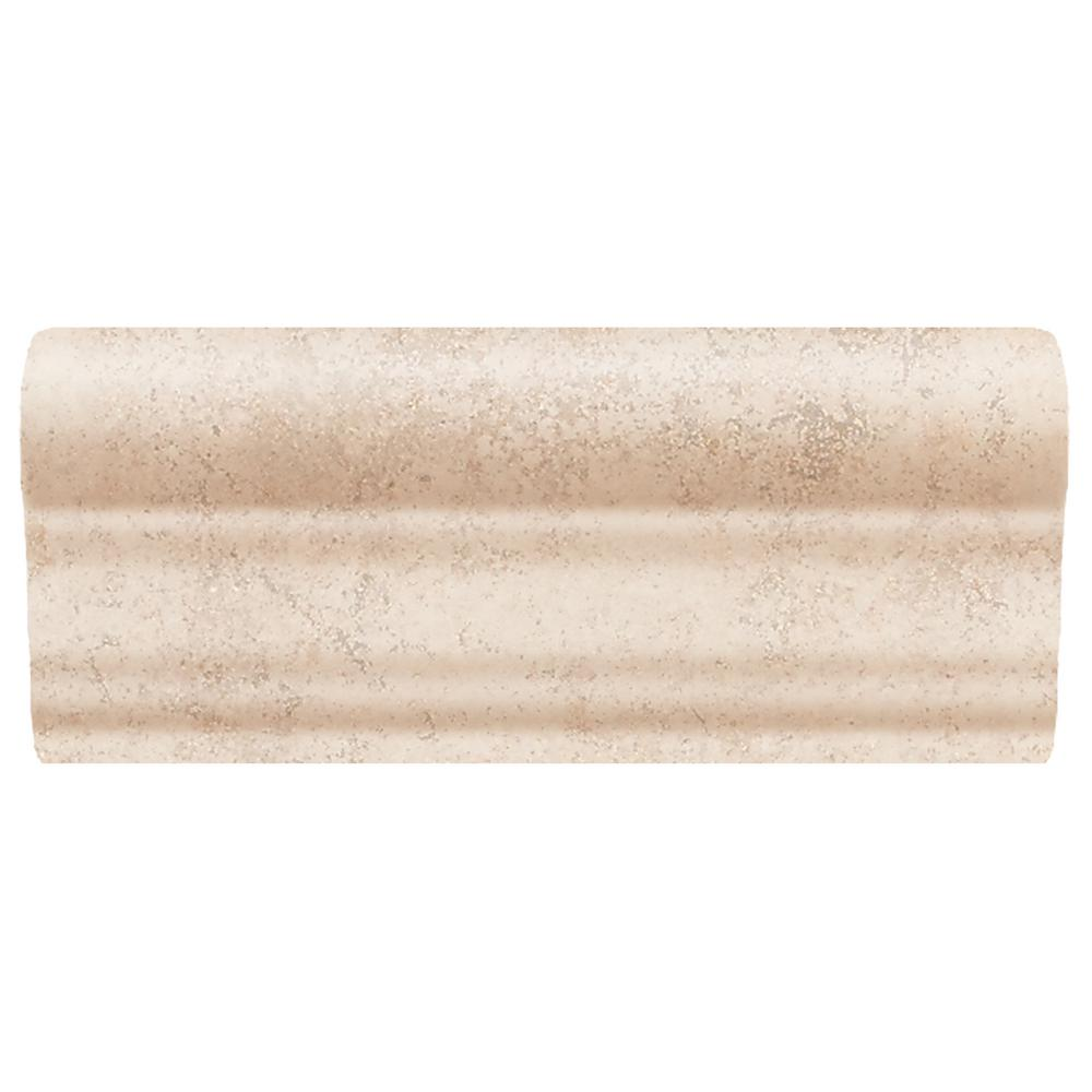 Daltile briton bone 2 in x 6 in ceramic chair rail wall tile daltile briton bone 2 in x 6 in ceramic chair rail wall tile bt0126crwlcc1p2 the home depot doublecrazyfo Choice Image