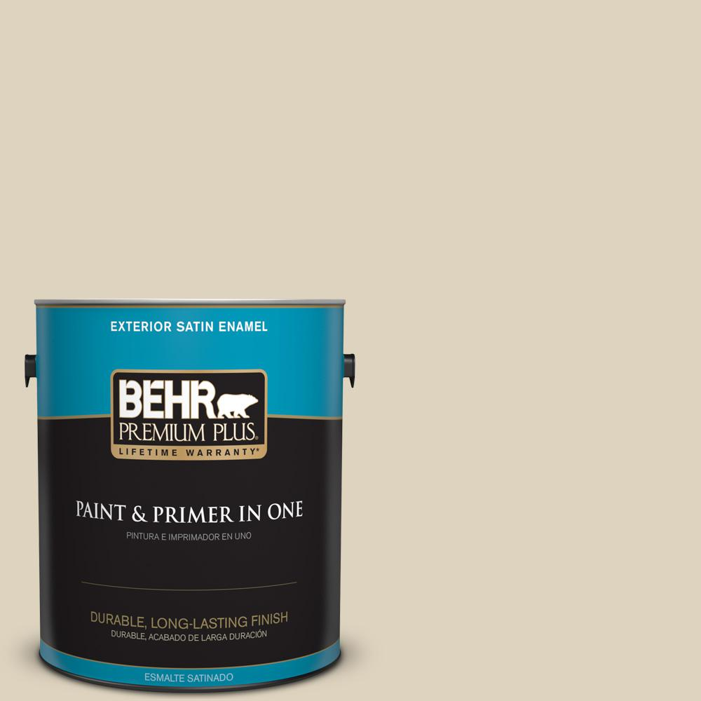 1 gal. #PPU4-12 Natural Almond Satin Enamel Exterior Paint