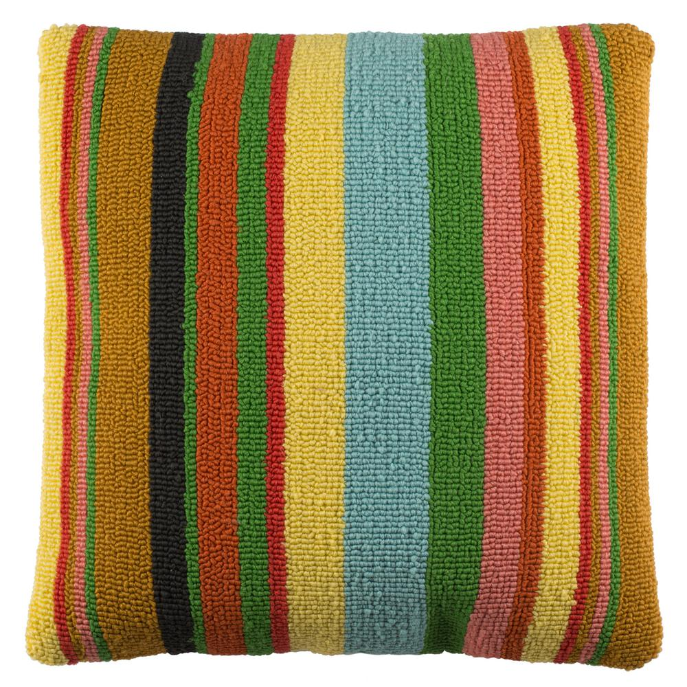 Safavieh Kinsley Striped Multi Color Square Outdoor Throw Pillow
