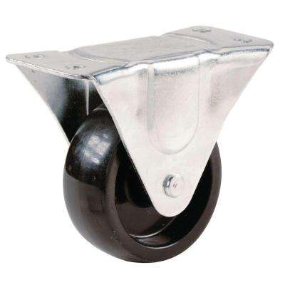 2-1/2 in. Polypropylene Rigid Plate Caster with 175 lb. Load Rating