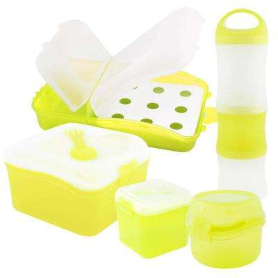 5-Piece Food Storage Container Assorted Pack in Lime