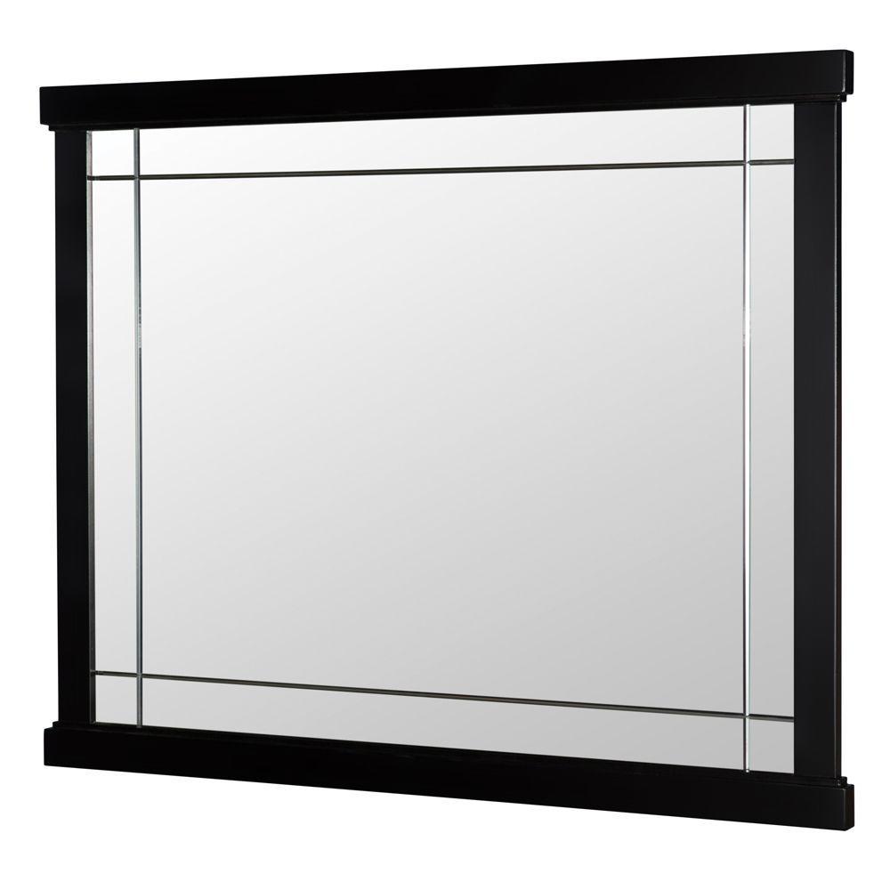 Home Decorators Collection Zen 38 in. W x 31 in. Bath Vanity Mirror in Espresso