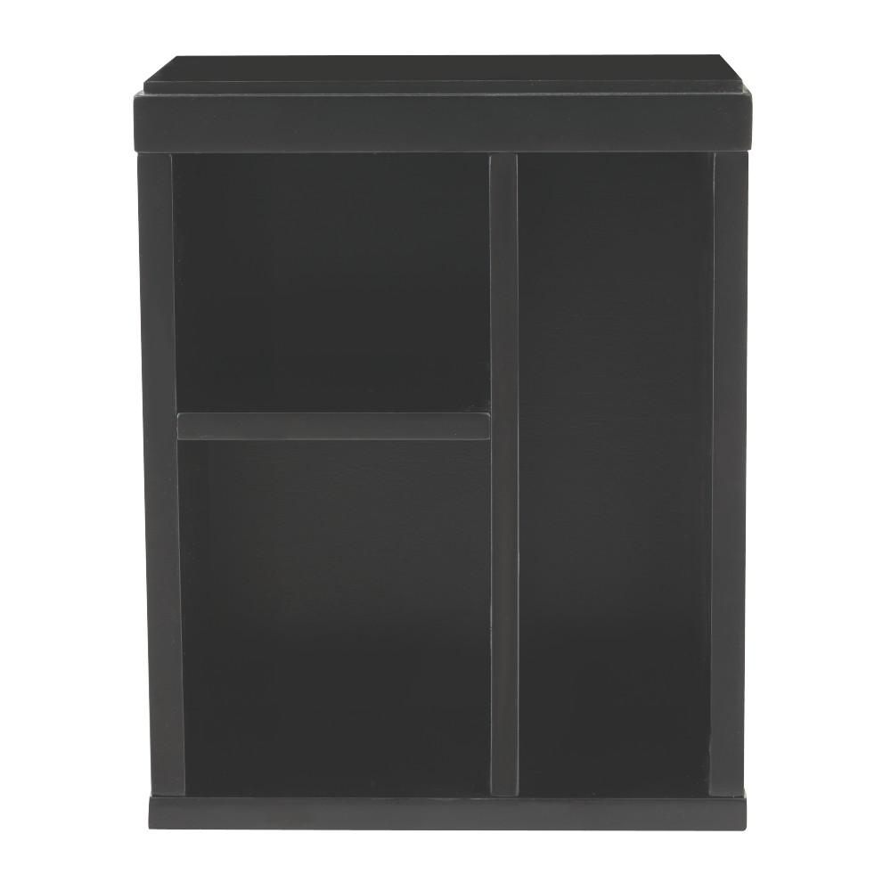 Craft Space 3-Cubby Left Organizer in Silhouette