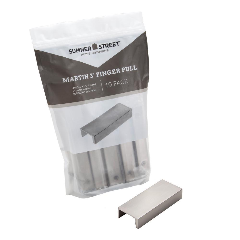 Sumner Street Home Hardware Martin 3 In Satin Nickel Drawer Pull 10 Pack Rl022351 The Home Depot