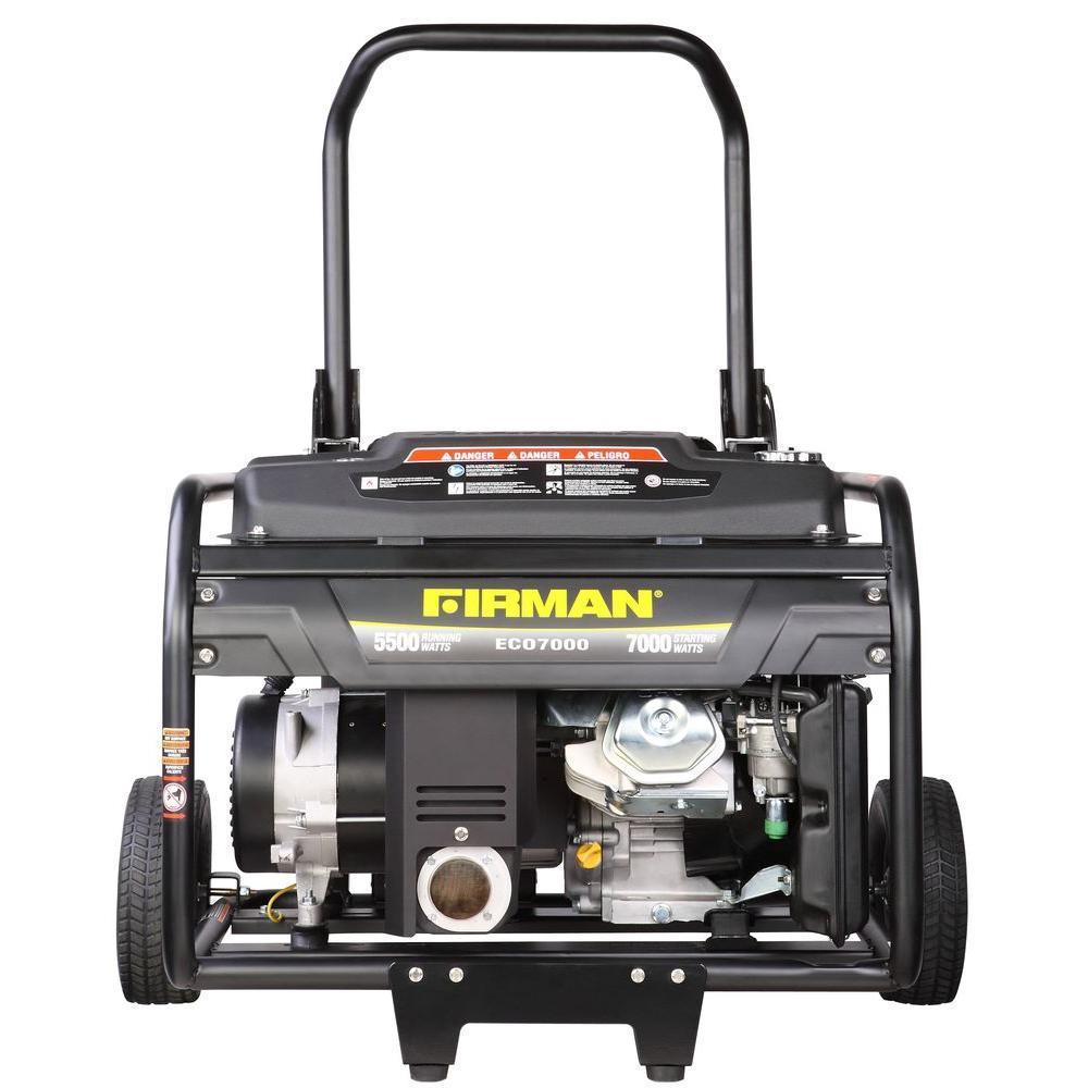 Firman 5500/7000-Watt Gas Powered Portable Generator with Wheel Kit by Firman