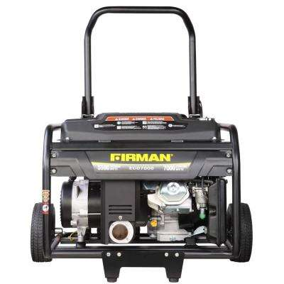 5500/7000-Watt Gas Powered Portable Generator with Wheel Kit
