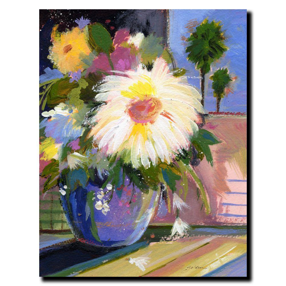 null 35 in. x 47 in. White Splash Canvas Art