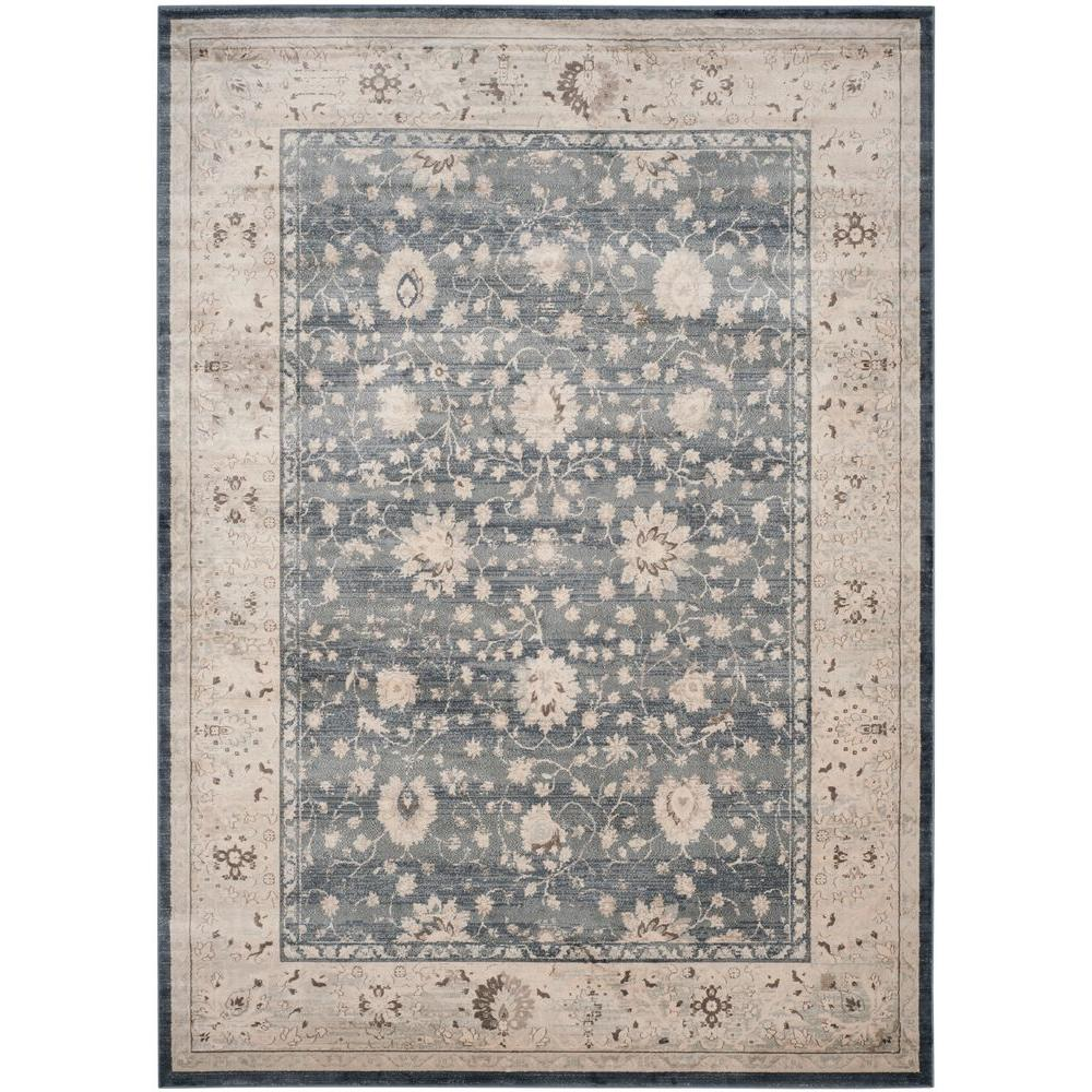 Safavieh Vintage Dark Blue/Cream 8 Ft. X 11 Ft. Area Rug