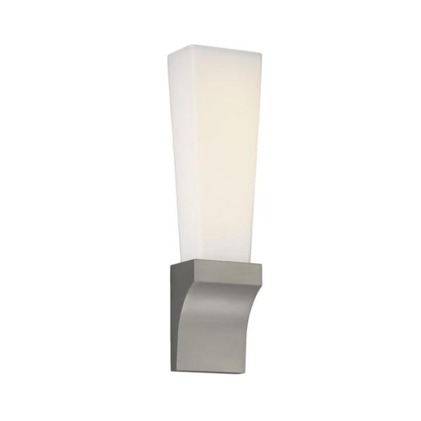 Empire 18 in. Satin Nickel LED Vanity Light Bar and Wall Sconce, 3000K