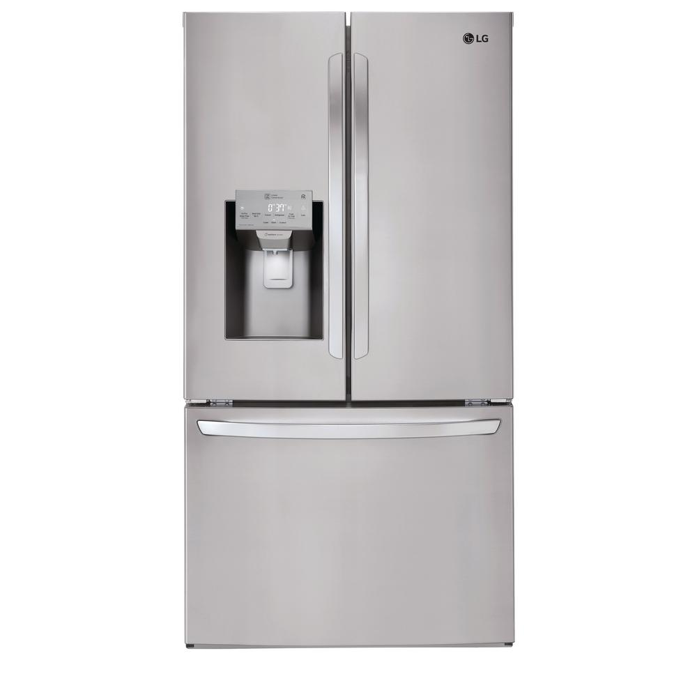 LG Electronics 26 2 cu  ft  French Door Smart Refrigerator with Wi-Fi  Enabled in Stainless Steel