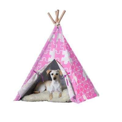 Medium Pink Puzzle Pet Teepee