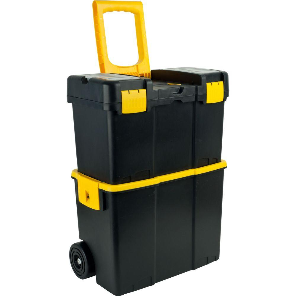 Stalwart 17 87 In Stackable Mobile Tool Box With Wheels