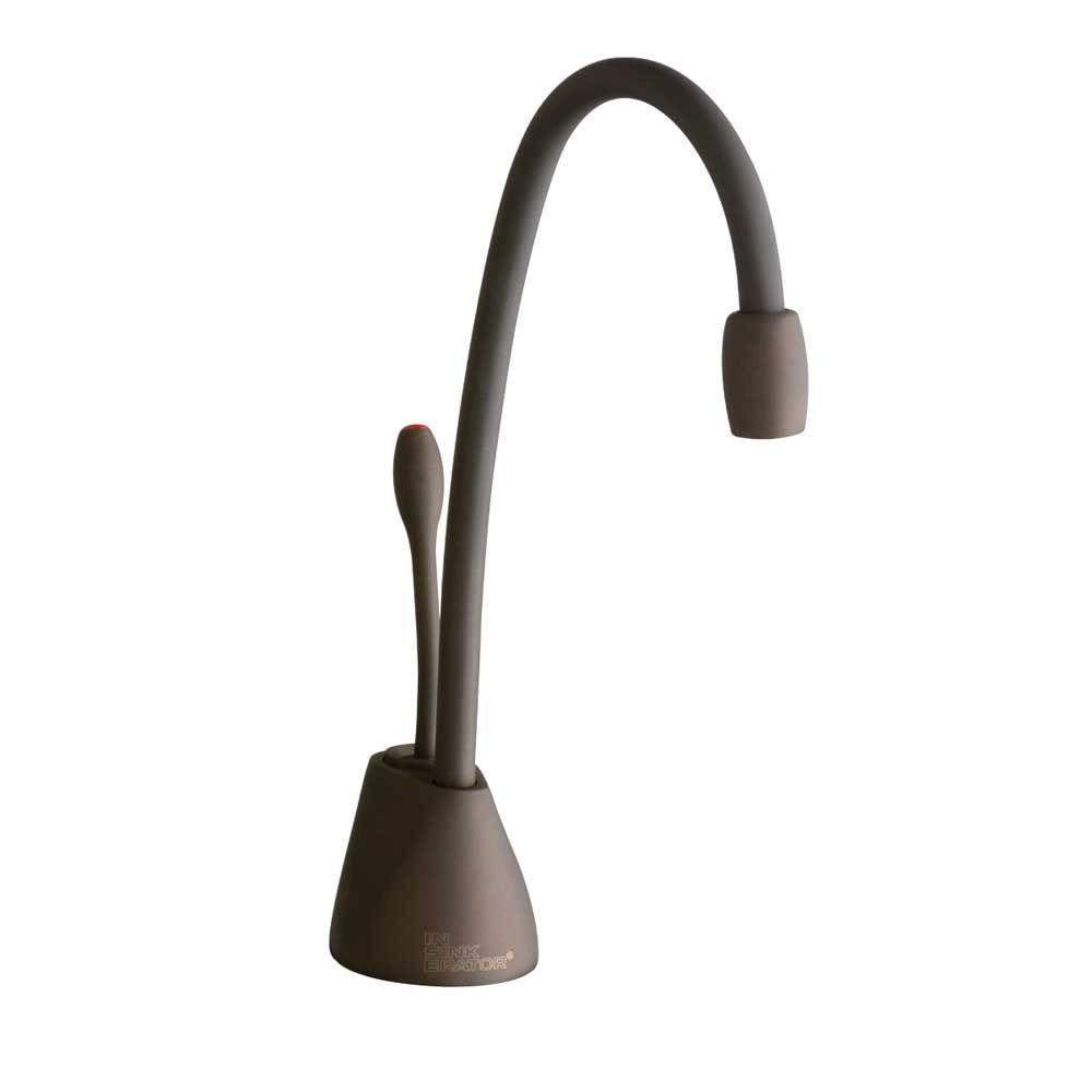 InSinkErator Indulge Contemporary Single Handle Instant Hot Water Dispenser  Faucet in Mocha Bronze F GN1100MB The Home Depot