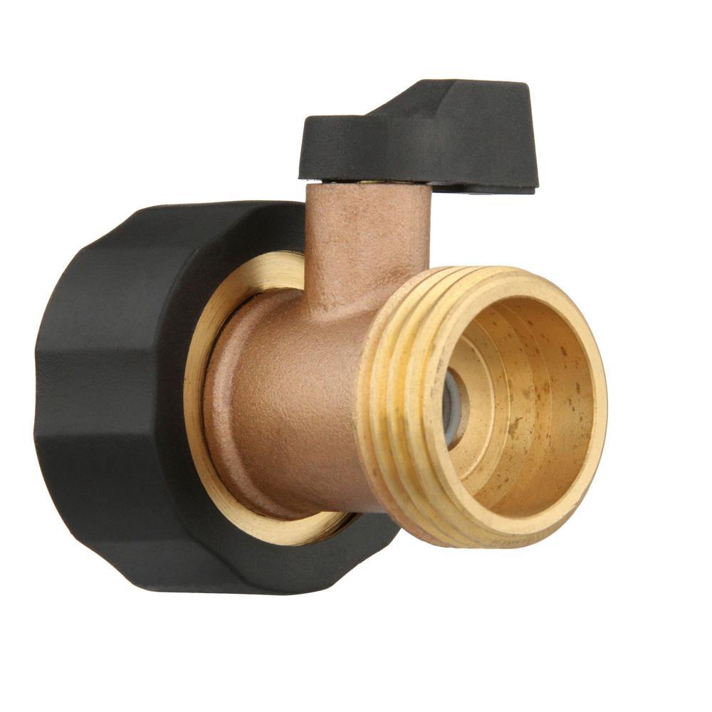 Metal Brass Single Ball Valve Garden Hose Connector Shut-Off Valve Water Swivel