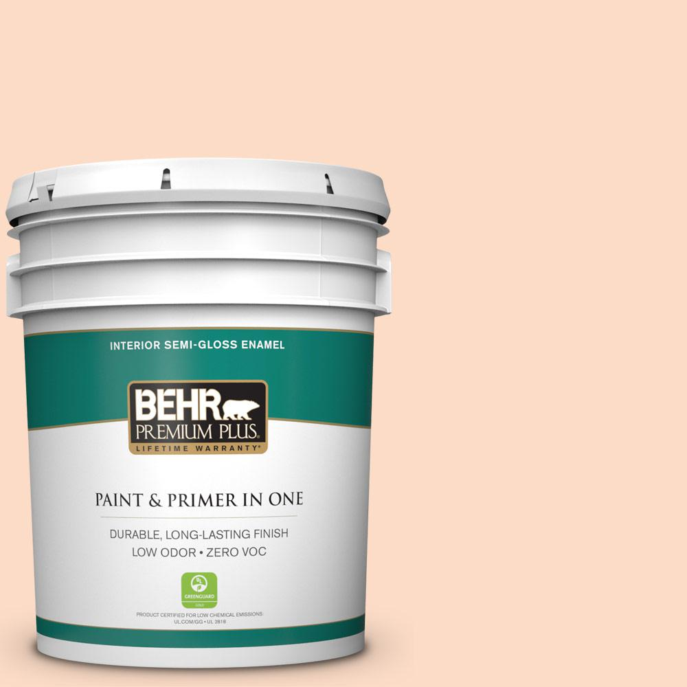 BEHR Premium Plus 5-gal. #260C-2 Salmon Creek Zero VOC Semi-Gloss Enamel Interior Paint