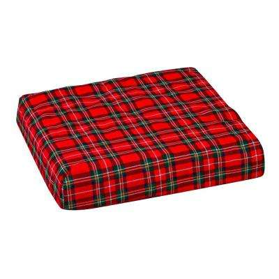 Convoluted Foam Chair Pad with Seat and Plaid Cover