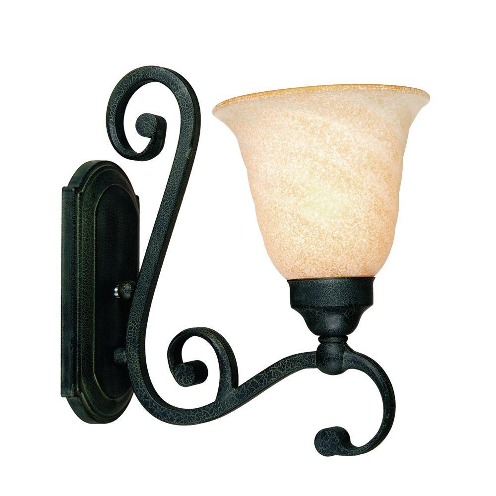 Yosemite Home Decor Le Conte Collection Wall mount 1-Light Sconce-DISCONTINUED
