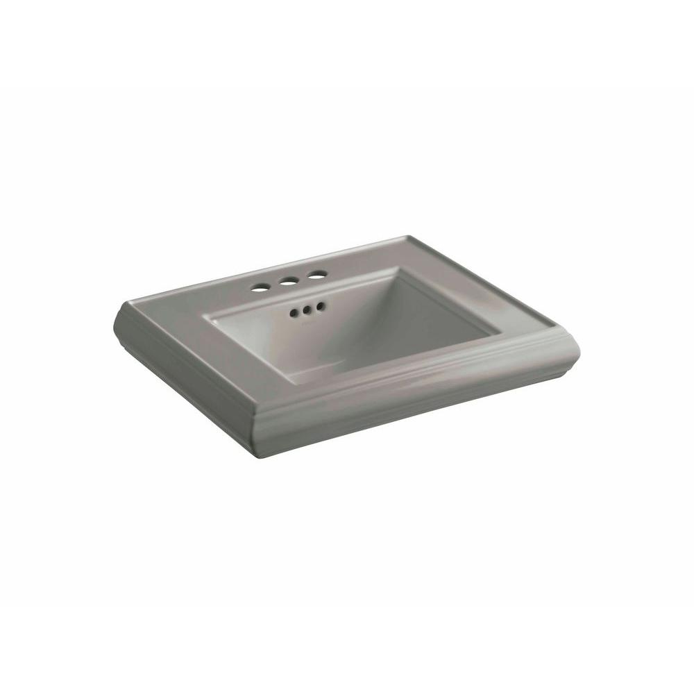 KOHLER Memoirs 5-1/4 in. Ceramic Pedestal Sink Basin in Cashmere with Overflow Drain