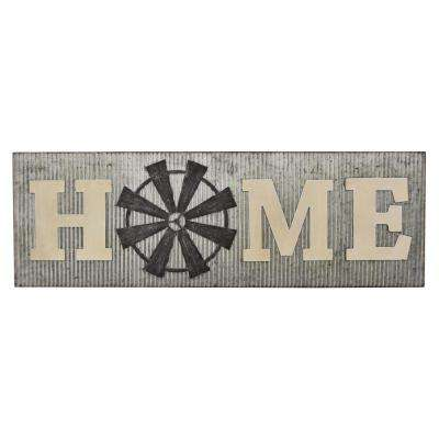 12 in. Novelty Sign - Home